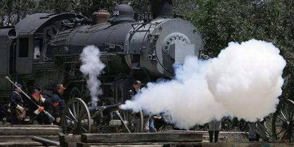 Civil War Re-enactment at Southern California Railway Museum