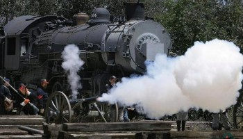 Civil War Re-enactment at Southern California Railway Museum