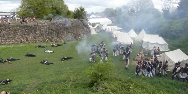 Napoleonic Living History Weekend at Whittington Castle
