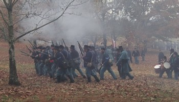 Reenactment of the Battle of Prairie Grove