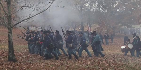 Reenactment of the Battle of Prairie Grove